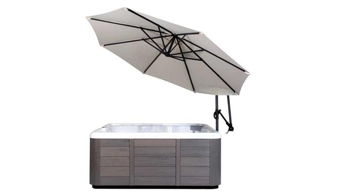 Creme Spa Side Umbrella in Dublin, California